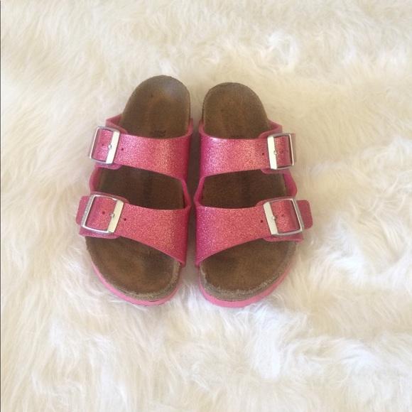 dda391ece1d Birkenstock Other - 💙Sale Kids Birkenstock Pink Glitter Sandals Sz 33